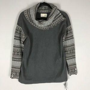 Anthro Saturday Sunday fleece fair isle sweatshirt